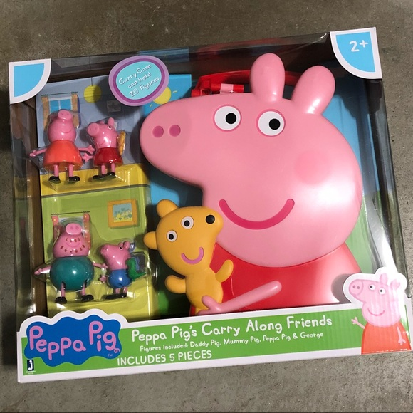 New Peppa Pig Carry Along Friends Case And Figures